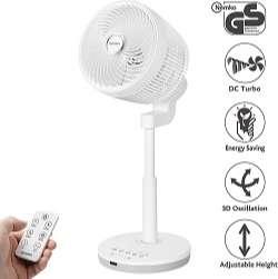 berssen el mejor Ventilador de Pie silencioso con mando a distancia Turbo y tecnología DC Motor 30W