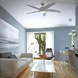 ventiladores con luz de techo silenciosos