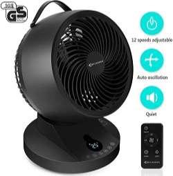 mycarbon ventilador de mesa silencioso negro