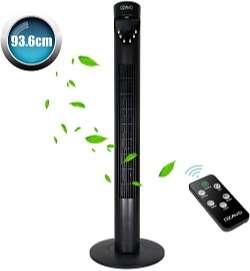 ventilador silencioso oara dormir con mando a distancia temporizador marca ozavo color negro