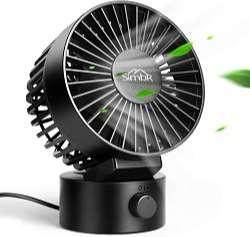 SIMBR Ventilador USB Mini con 2 Velocidades Ventilador Portátil y Silencioso