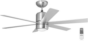 ventiladores silenciosos de techo con mando a distancio y luz blanco