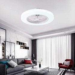 ventilador de techo silencioso para casa con lampara led y mando a distancia