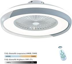 ventilador de techo silencioso con luz y mando a distancia