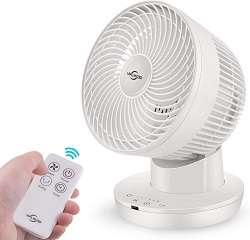 viflykoo ventilador silencioso de escritorio blanco con mando a distancia